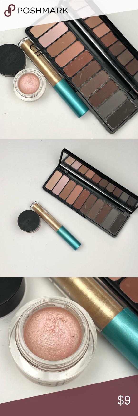 Elf eyeshadow palette, smudge pot, liquid shadow Palette