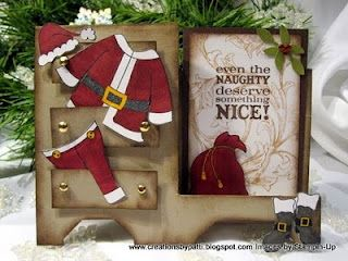 Cute Santa's Wardrobe Card...with paper clothes.