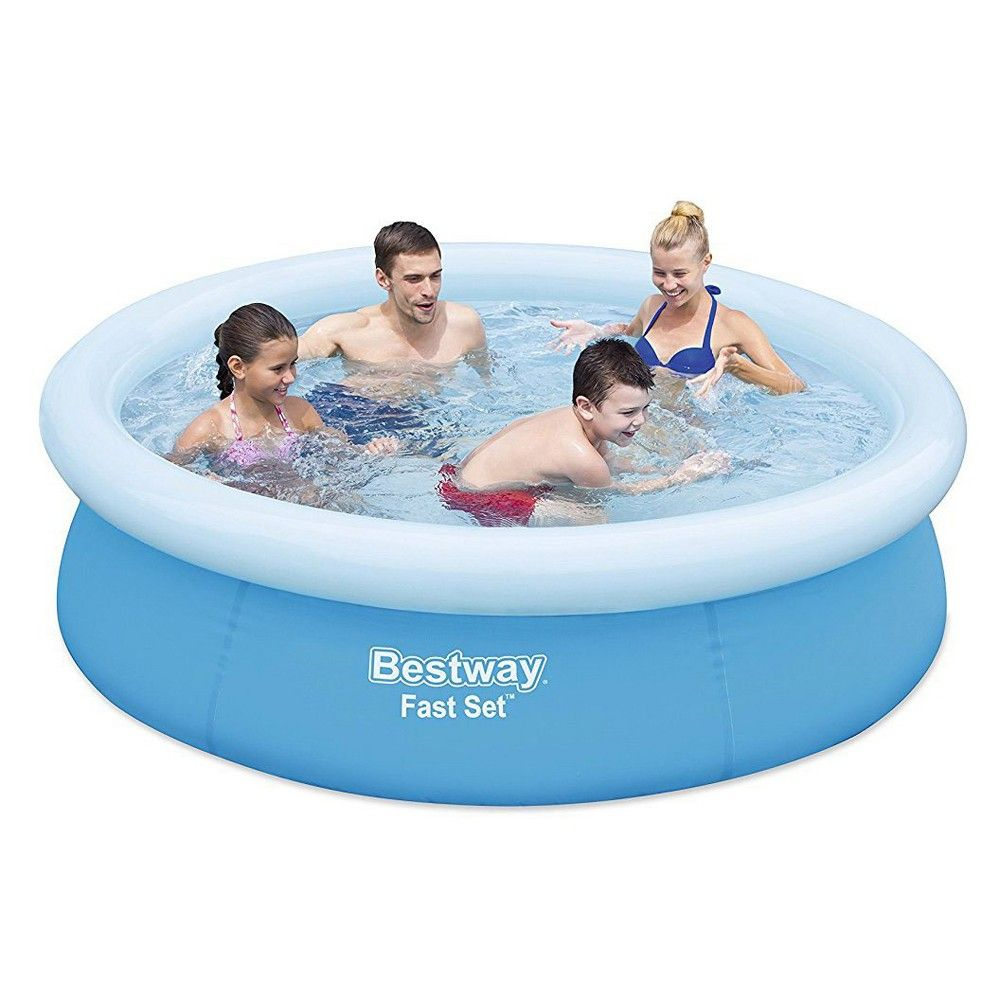 Bestway 6 X 20 Fast Set Round Inflatable Above Ground Kids Swimming Pool Blue Children Swimming Pool Inflatable Swimming Pool Pool