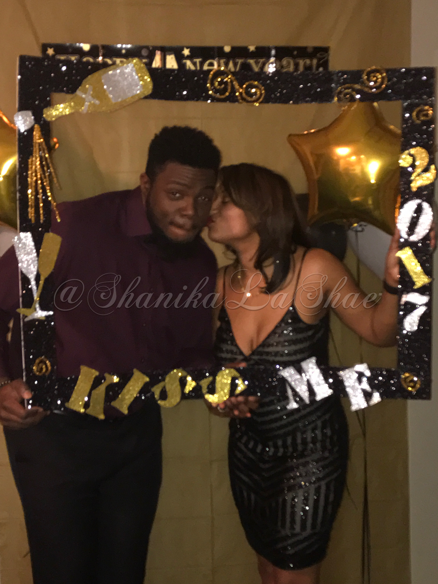 New Years Eve Photo Booth Frame Glitter Foam Poster Board And Card