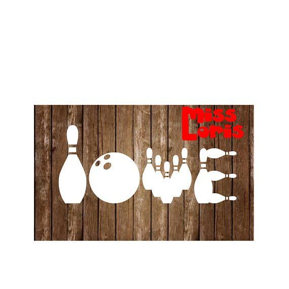 Download Love Bowling SVG DFX Cricut cameo bowling svg, love ...