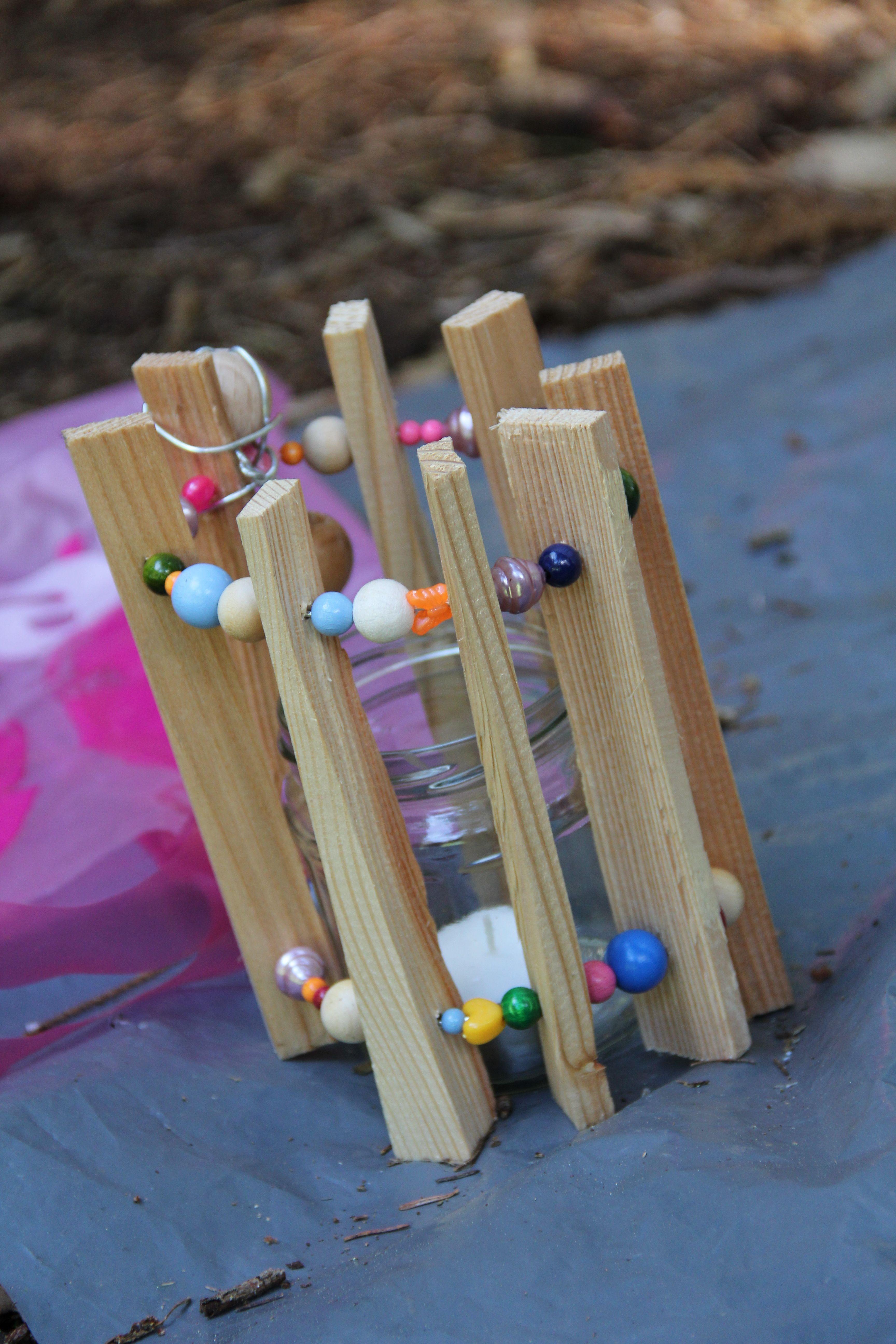 Hochwertig Teelicht Aus Holz Und Perlen Für Den #Garten #diy