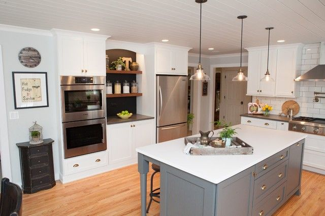 Sophisticated Nostalgia Kitchen in Deer Park Transitional Style