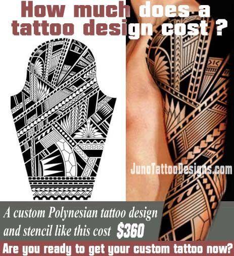 How Does Much A Tattoo Cost Polynesian Samoan Arm Tattoo Juno