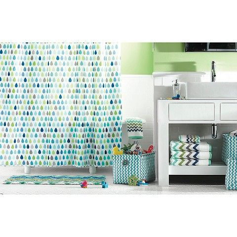 Circo™ Cool Raindrops Shower Curtain