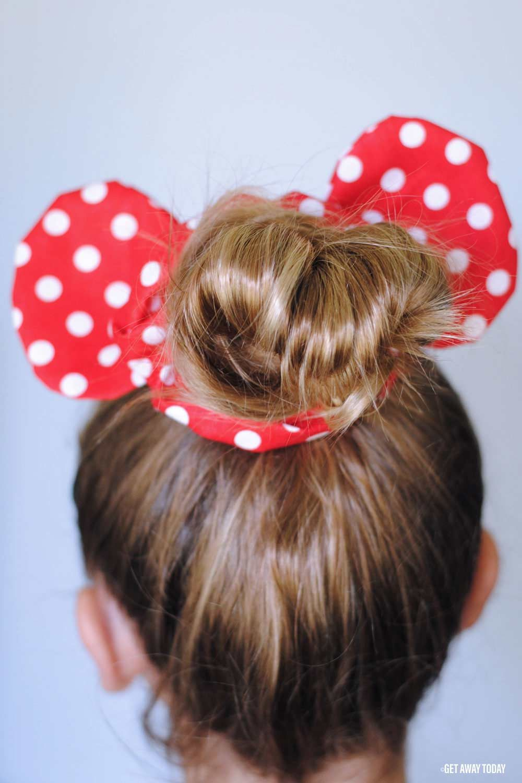 DIY Minnie Mouse Scrunchie