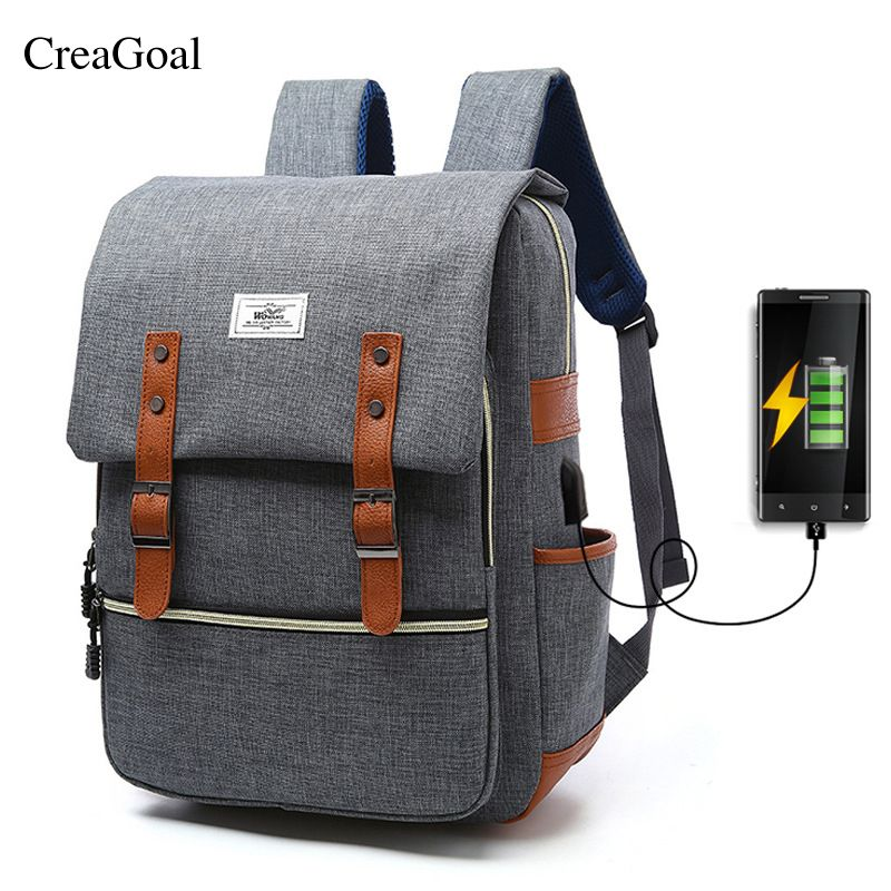 811b81560a8d Discount 2018 New Design Men Women Canvas Backpacks USB Charging School Bags  For Teenagers Boys Girls Large Capacity Laptop Back pack +Quick Sale Before  ...