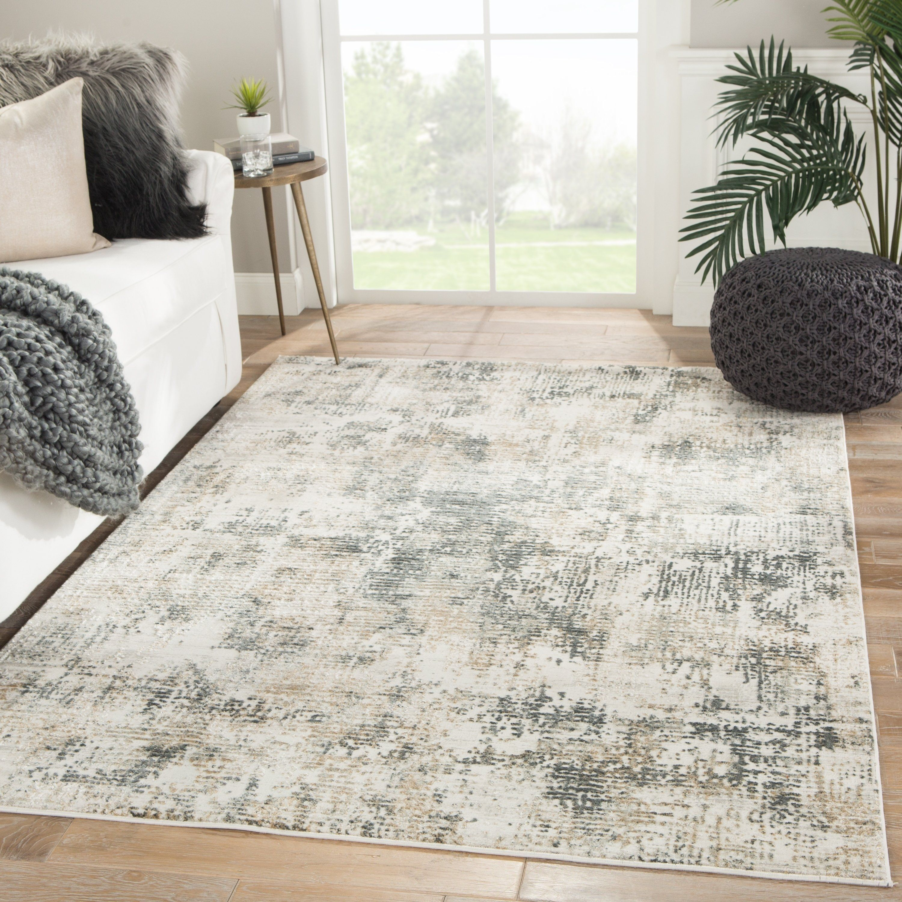Caden Abstract Gray Ivory Area Rug 8 10 X 12 8 10 X 12 Grey Ivory Juniper Home In 2019 Area Rugs Rugs Natural Area Rugs