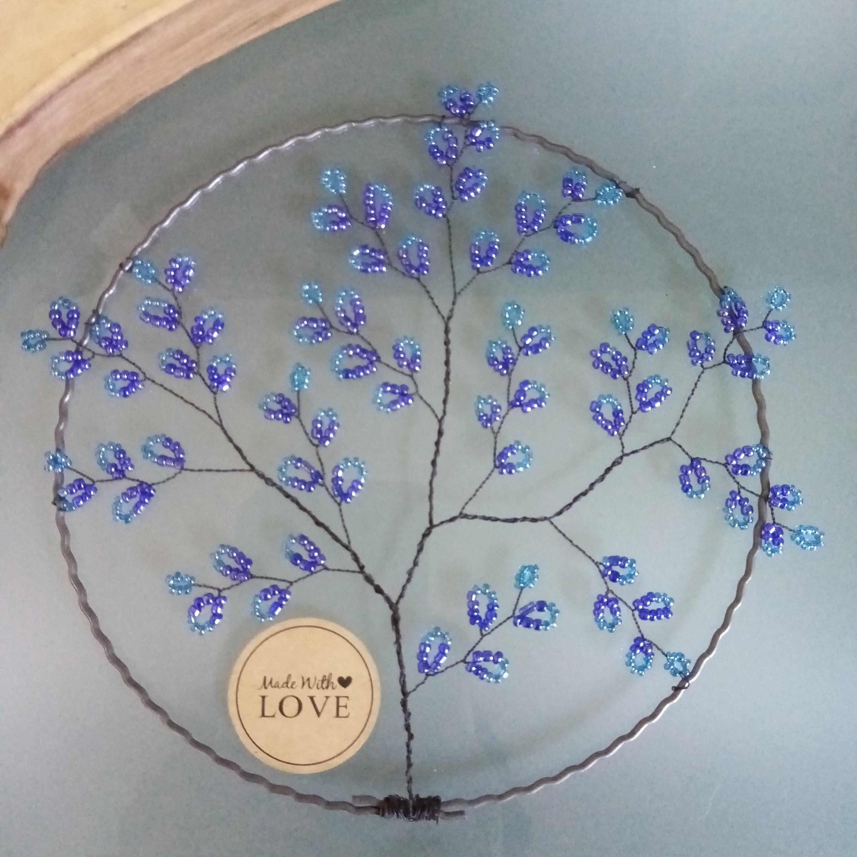 Blauer Lebensbaum Glasperlen sonnenfänger Baum blau | Etsy