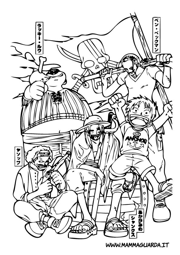 One Piece Da Colorare 11 Jpg 595 842 Coloring Pages One Piece