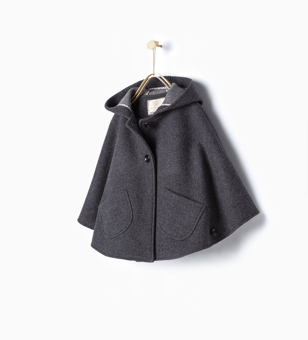 76ed59e2a Image 1 of Cape with pockets from Zara