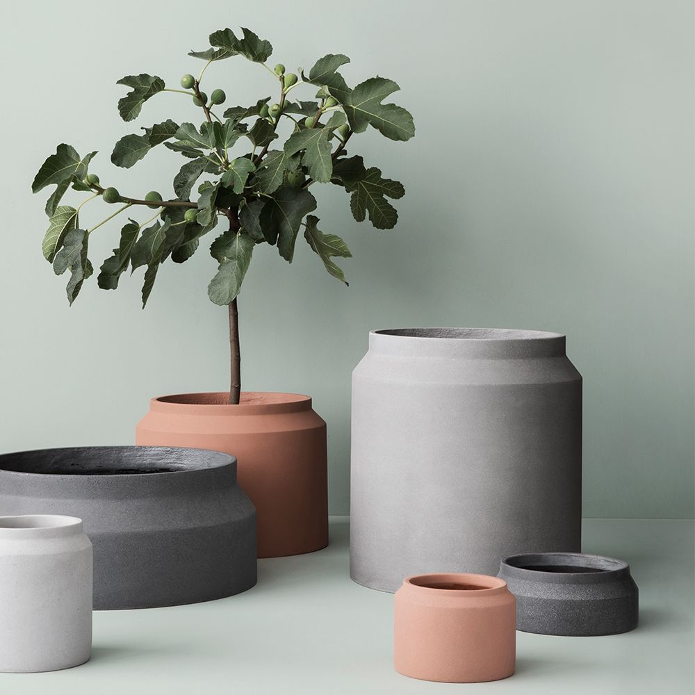 Planter Lys En Pot I Ø Krukke Small Lys Grå Ferm Living Ceramics Pinterest