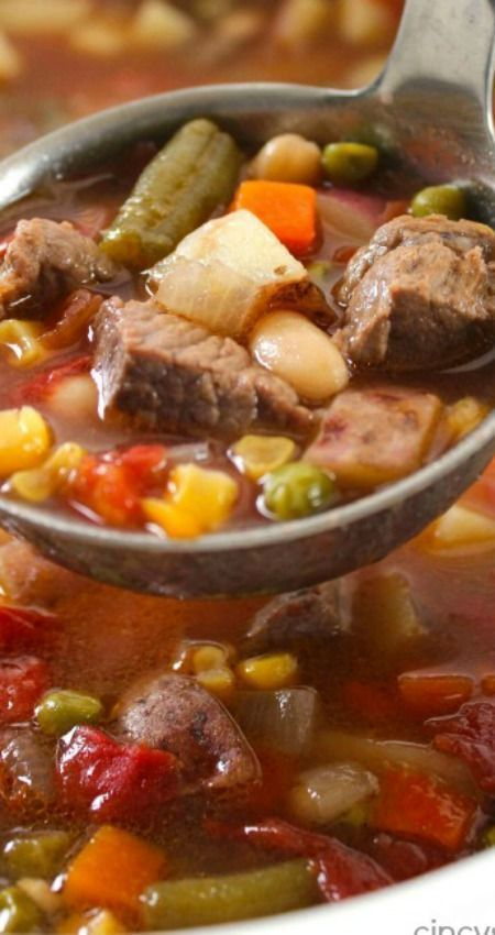 Slow Cooker Vegetable Beef Soup images