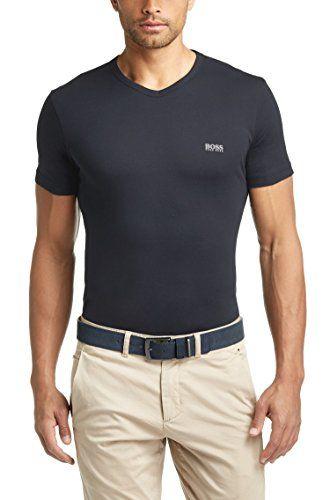18647c16d Hugo Boss Mens Short Sleeve T-shirt 'Teevn' with V-neck -