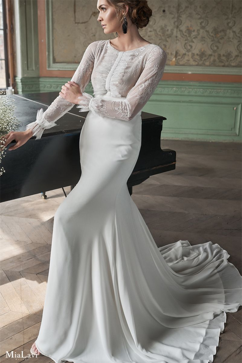 07971fada83c Wedding dress no. 1918 from Floral Romance Collection by Mia Lavi # weddingdress #weddingdresses
