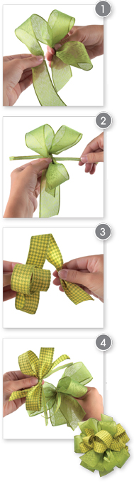 how to make a bow with different ribbons