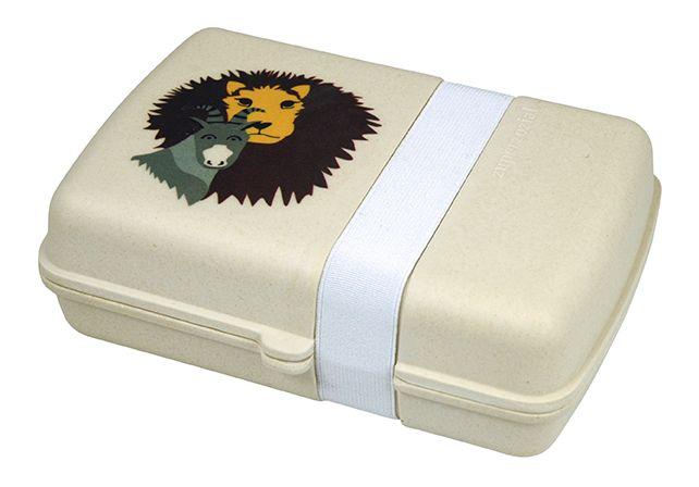 LUNCHTIME! HUNGRY LION. Lunchbox. based on bamboofiber. Design: Remco van der Leij