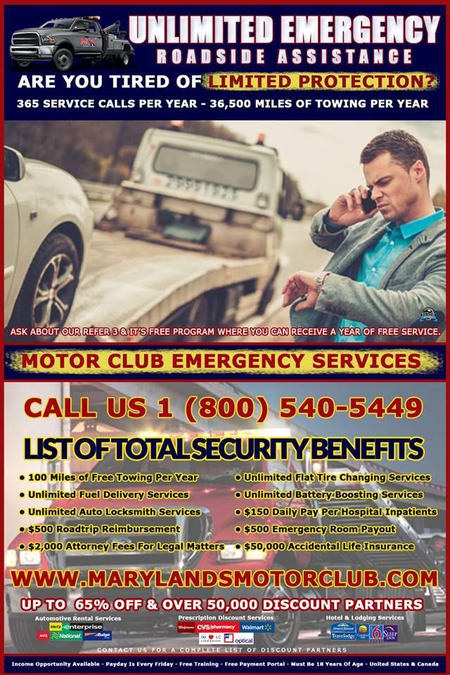 Maryland S Motor Club Offers 24 7 Emergency Roadside Assistance