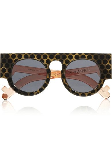 Shop now: Le Specs  CRAIG & KARL Houdini Round-frame Acetate Sunglasses