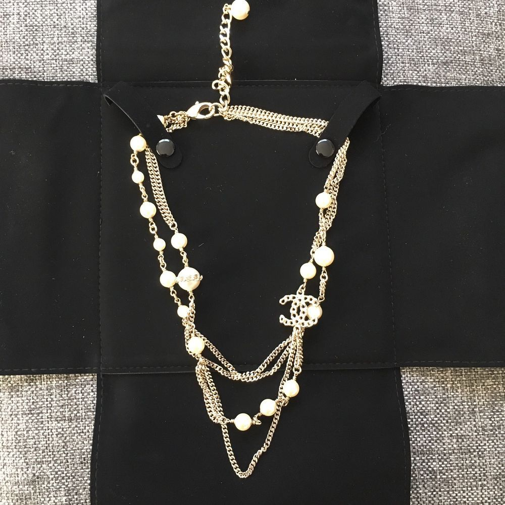 quotccquot long larger chanel necklace l paris vintage chains quilted on view from chain