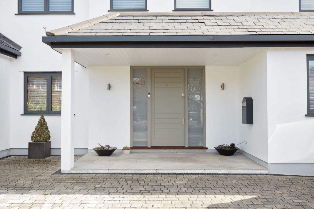 Contemporary Front Door With Sidelights London Door Company In 2020 Contemporary Front Doors Garage Door Styles Front Door
