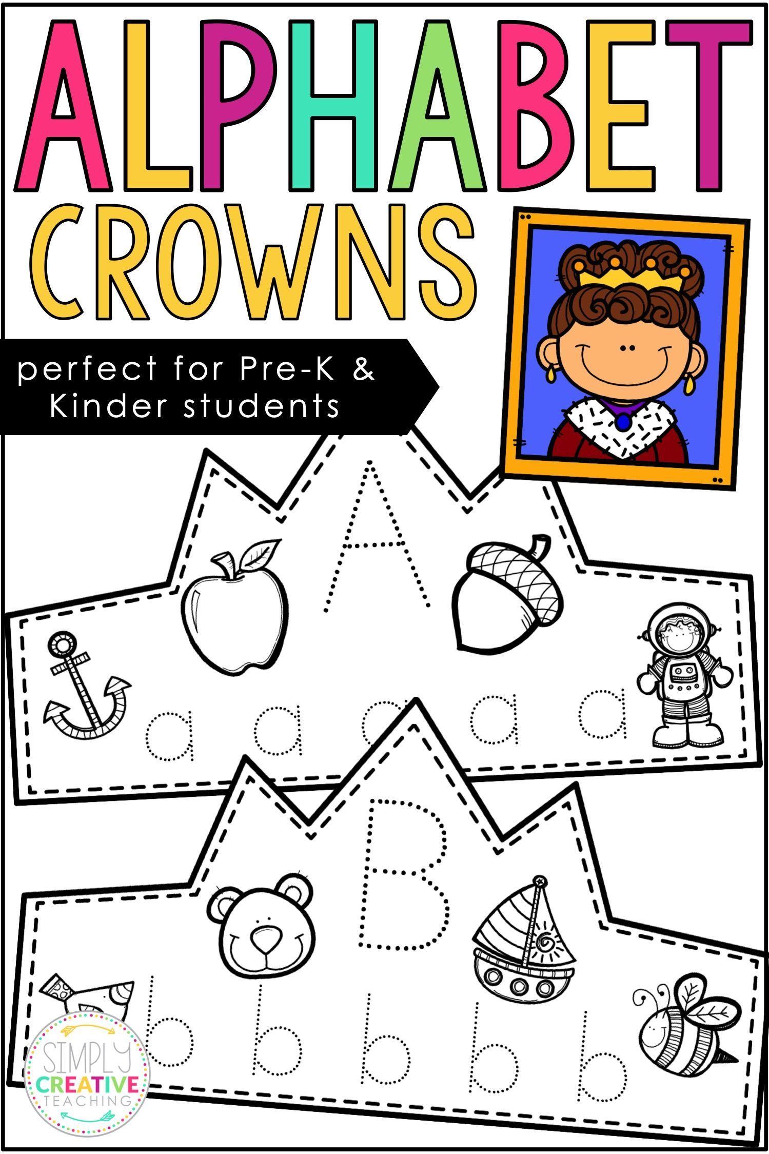 Alphabet Tracing Headbands Crowns