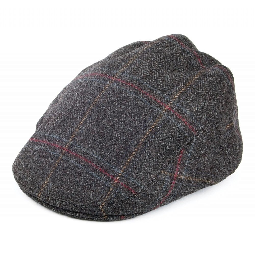 4817ce5c554 Olney Hats English Tweed Flat Cap - Charcoal