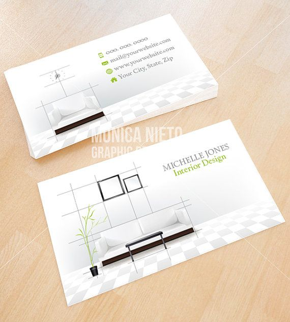 Custom printable interior design business card template also rh pinterest