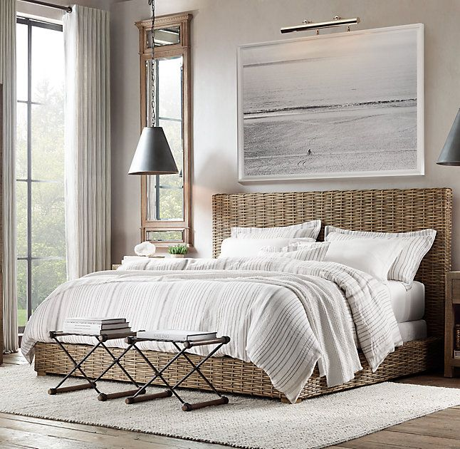 Rh S Antilles Rattan Bed Inspired By The Clean Modern