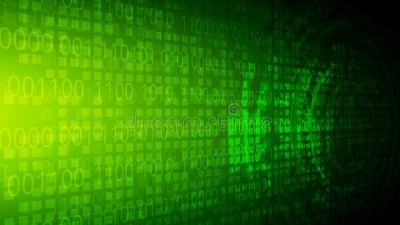 Green Yellow Binary Code Vector Background Abstract Perspective