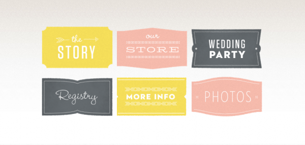 I like these website button ideas, done in our colors