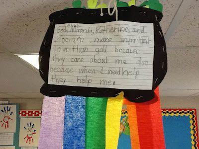 Could make it a fill in the blank for Kindergarten. Who is more important to you than gold?