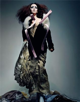 """RedPoppy Fashion: Fashion Flashback: Morgane Dubled by Craig McDean in """"Grunge Couture"""" for Vogue Paris March 2004"""