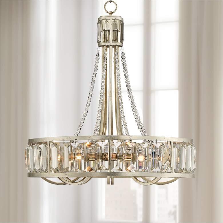 St Luciana 25 Wide Silver 8 Light Crystal Chandelier 72n51