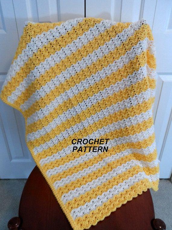 Baby Blanket Crochet Pattern, Petite Ripple Afghan, Crib Blanket ...