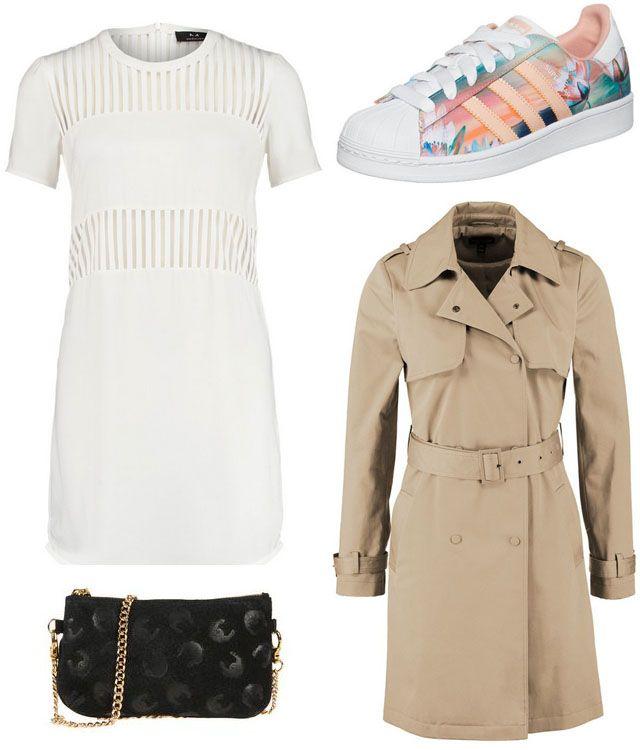 Vestido blanco y negro adidas