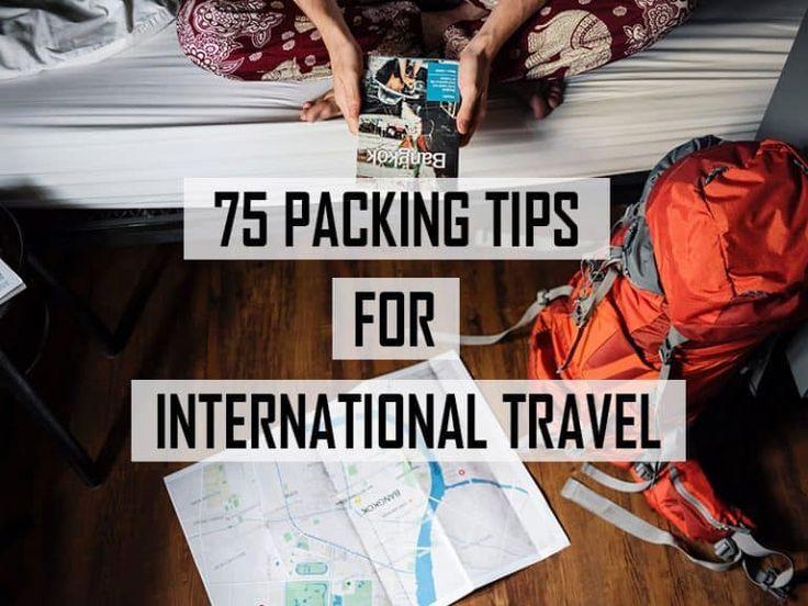 75 packing tips for international travel -