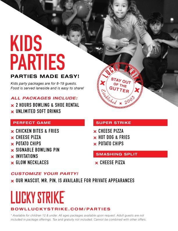 Bowling Birthday Parties In Houston Other Kids Party Options Texas