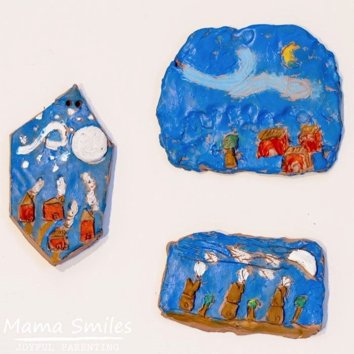 We loved this sensory approach to Van Gogh art lessons for elementary school aged children. The use of clay makes it easy for kids to mimic an impasto effect.