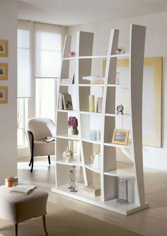 Mueble Blanco Muy Bonito Separador De Ambientes Pinterest  # Muebles Separadores Para Monoambientes