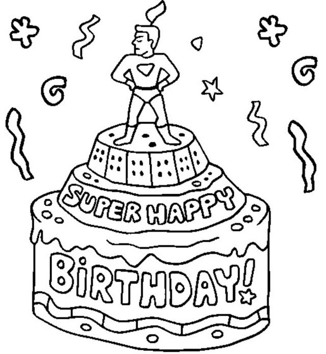 super happy birthday coloring pages  birthday coloring