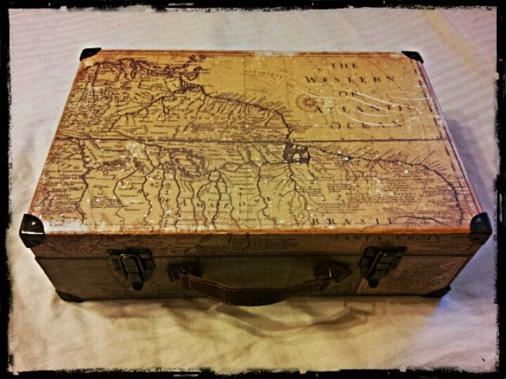 What Ive Collected So Far Antique Map Box Michaels - Antique map box