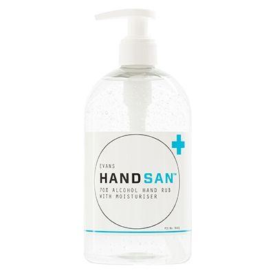 Evans Vanodine Handsan 70 Alcohol Hand Sanitiser Hand Sanitizer