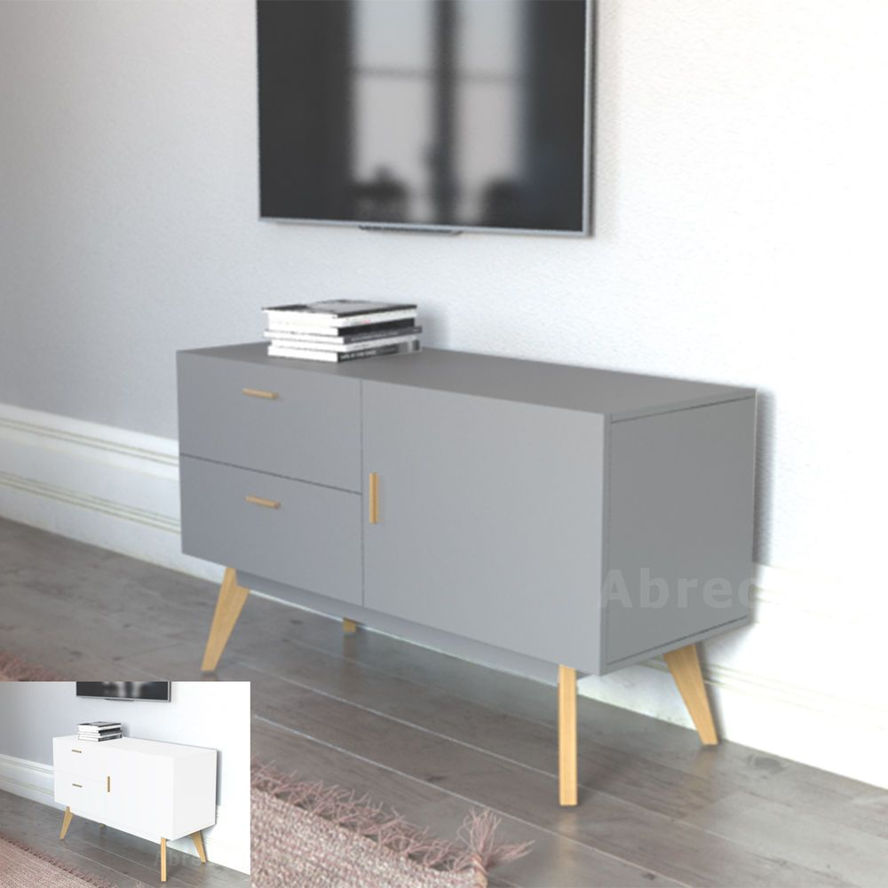 New Scandinavian Credenza Retro Tv Stand Sideboard Furniture White Grey Upto 55 034 Furniture Small Vintage Sideboard Retro Tv Cabinets