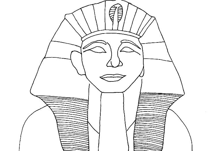 Ancient Egypt Colouring Sheets Pharaoh Coloring Page A Head