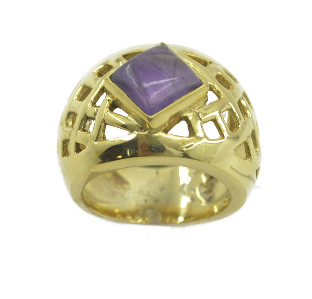 Amethyst Gold Plated Ring charming Purple india AU gift http://www ...