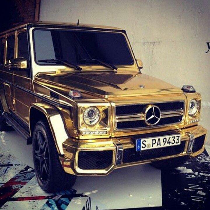 Gold Chrome Mercedes G Class Cars Pinterest Cars