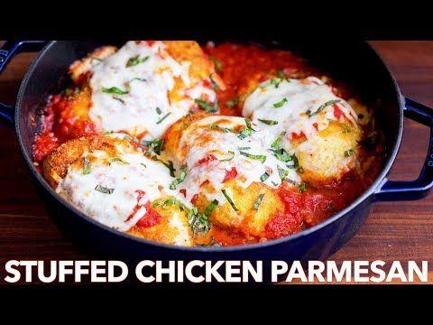 Stuffed Chicken Parmesan Recipe With Gf Option Natashas Kitchen