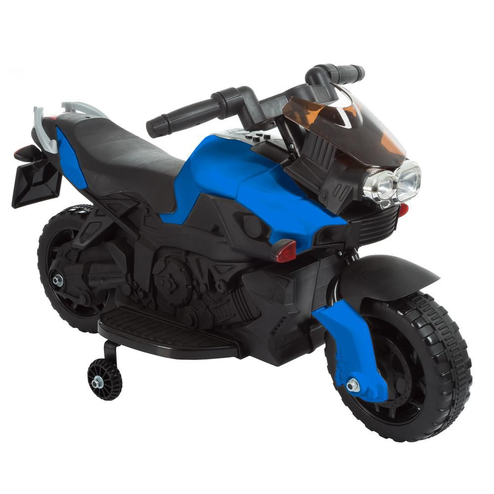 Lil Rider 2 Wheel Blue Battery Powered Motorcycle Ride On Toy M410013 The Home Depot In 2020 Ride On Toys Toddler Bike Riding Motorcycle