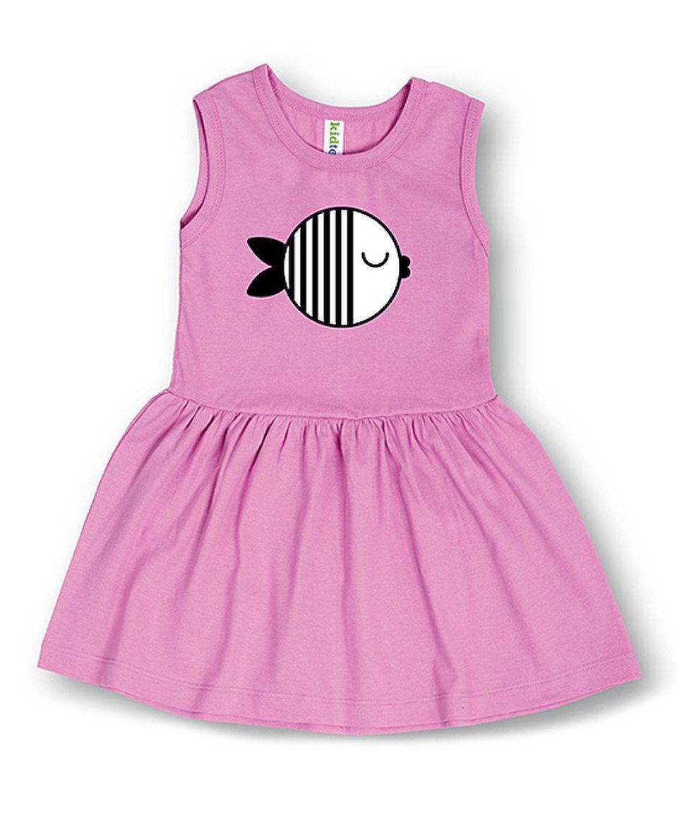 Look what I found on #zulily! Lavender Fish Dress - Toddler & Girls by Festuvius #zulilyfinds